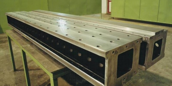Manufacturing and supply of 130 girders for the ATLAS detector at CERN